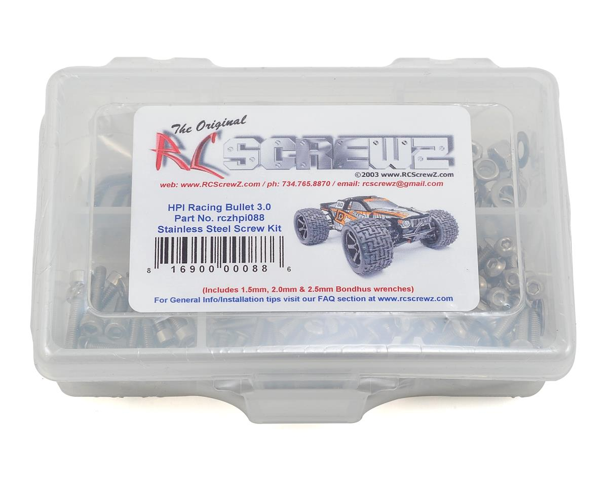 RC Screwz HPI Bullet 3.0 Stainless Steel Screw Kit | relatedproducts