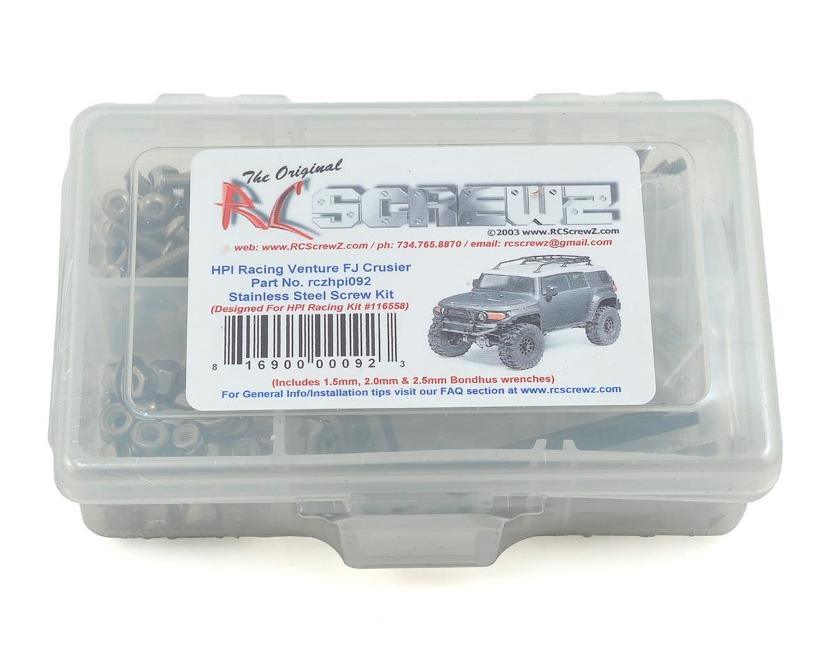 RC Screwz HPI Venture FJ Stainless Steel Screw Kit