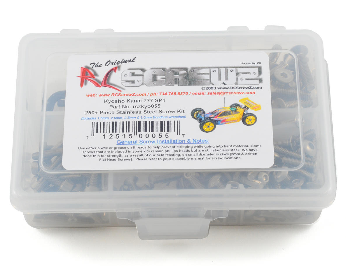 Kyosho Kanai 777 SP1/SP2 Stainless Steel Screw Kit by RC Screwz
