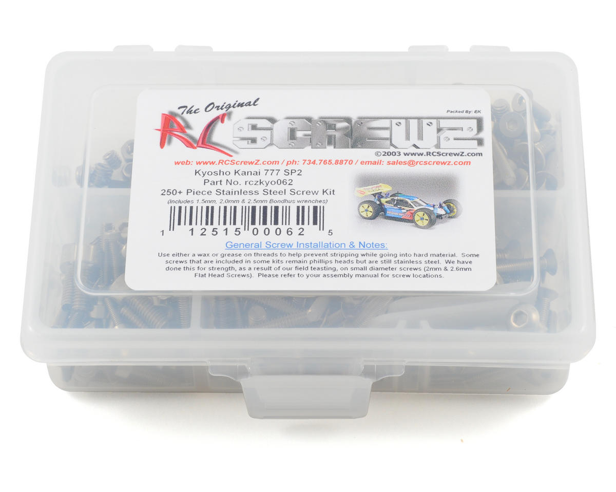 Kyosho Kanai 777 SP2 Stainless Steel Screw Kit by RC Screwz