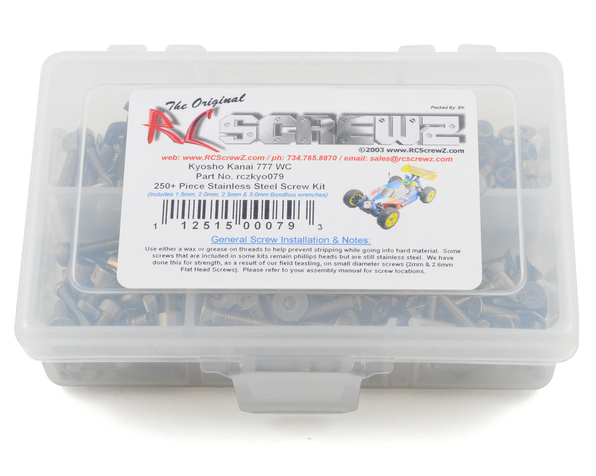 RC Screwz Kyosho 777 WC  Stainless Steel Screw Kit