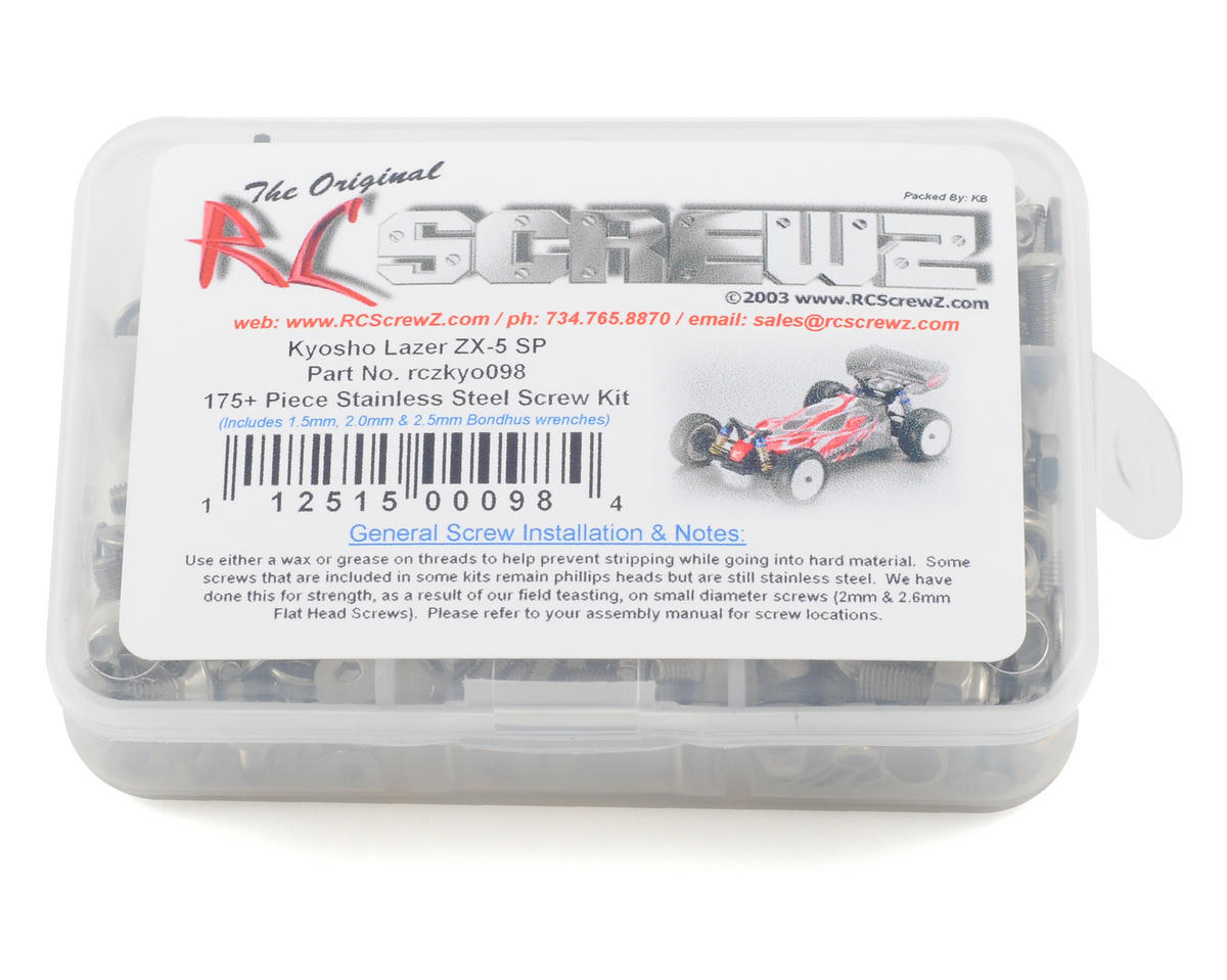 RC Screwz Kyosho ZX-5 SP Stainless Steel Screw Kit