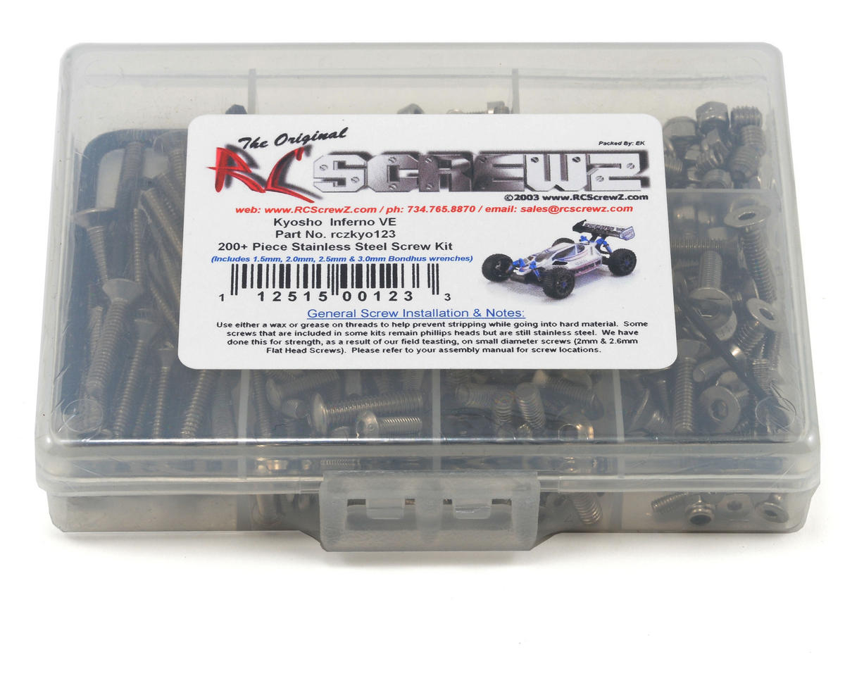 RC Screwz Kyosho Inferno VE Stainless Steel Screw Kit