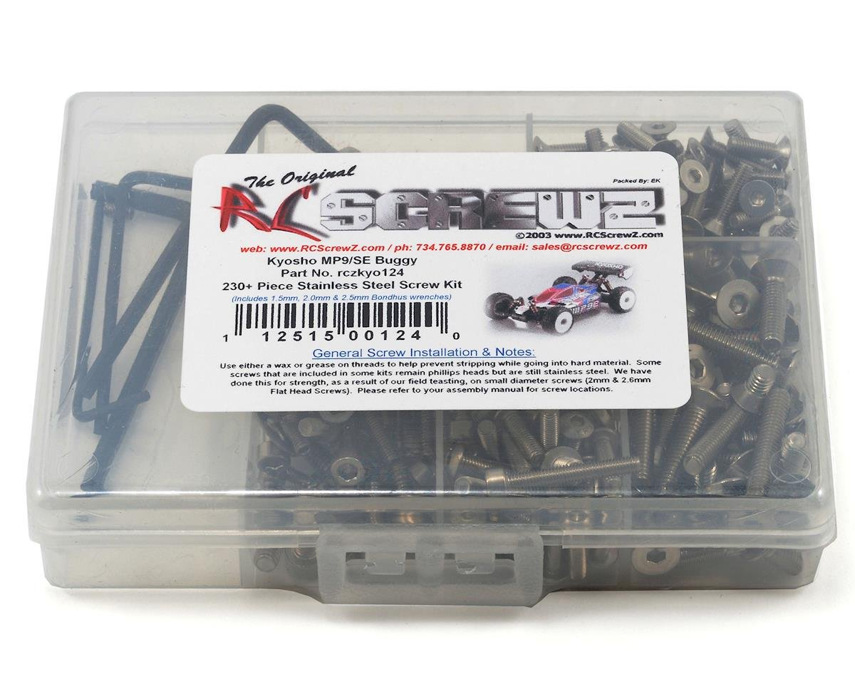 RC Screwz Kyosho Inferno MP9e Stainless Steel Screw Kit