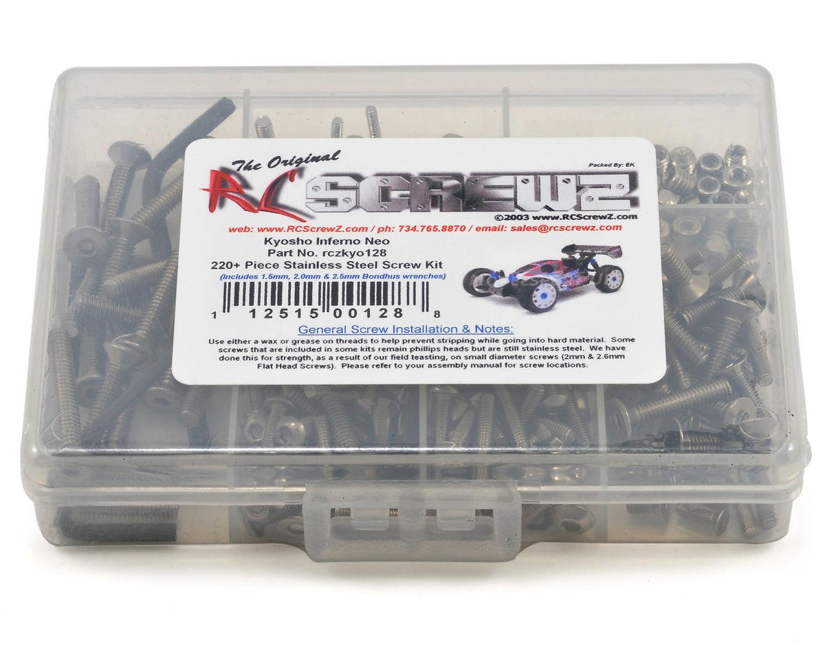 RC Screwz Kyosho Inferno NEO Stainless Steel Screw Kit
