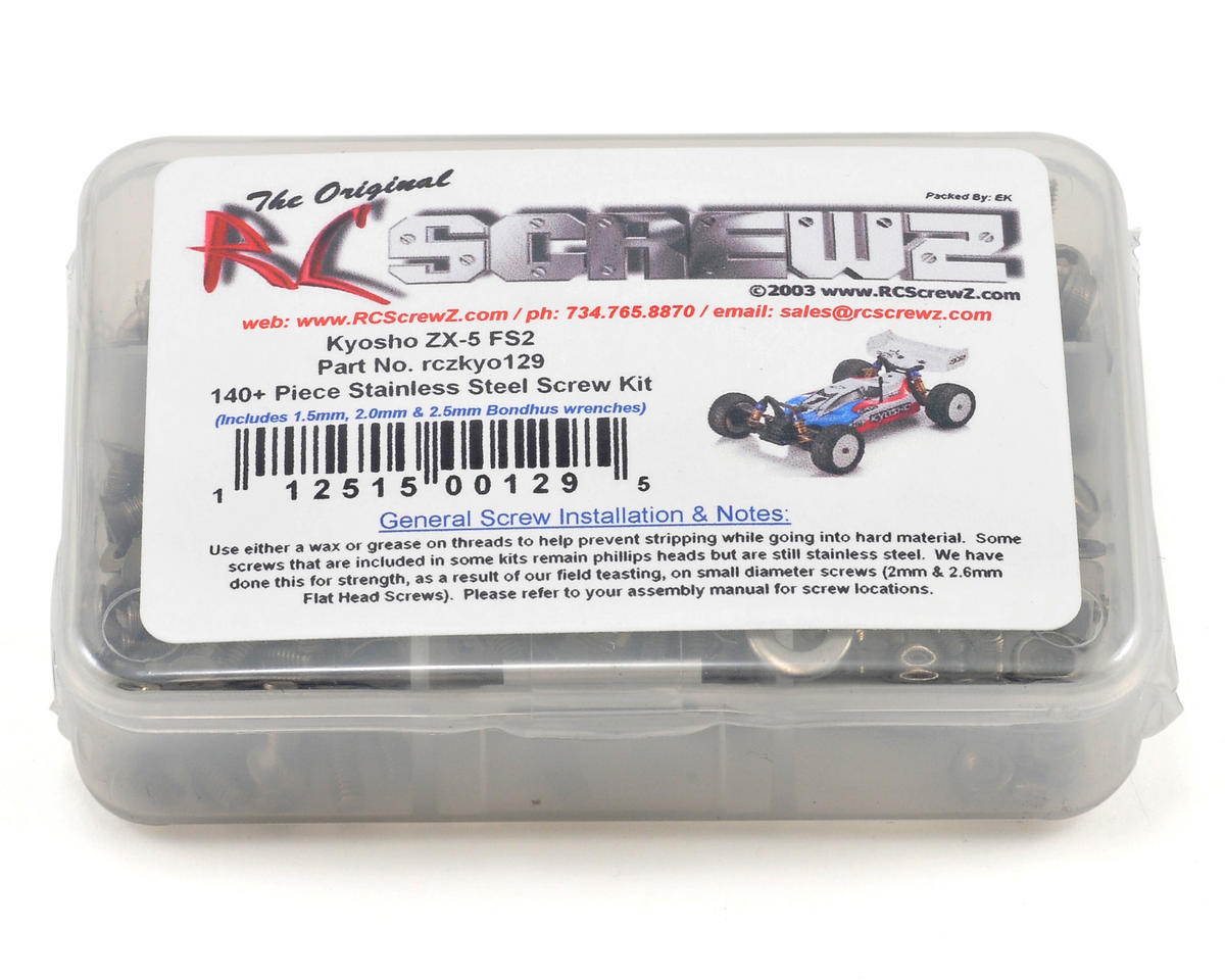 RC Screwz Kyosho ZX5 FS2 Stainless Steel Screw Kit