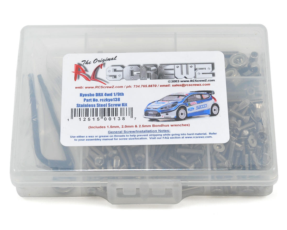 RC Screwz Kyosho DRX 4wd 1/9th Stainless Steel Screw Kit
