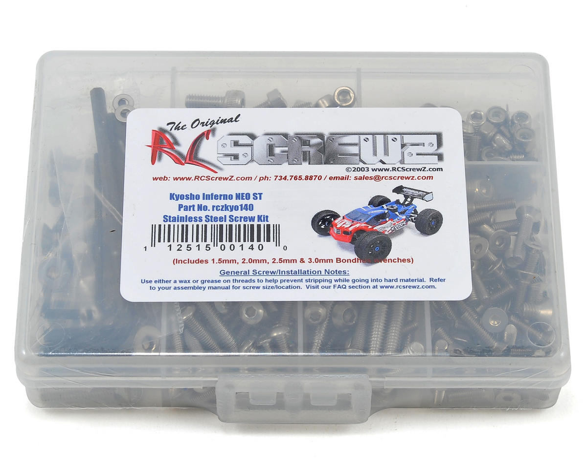 Kyosho Inferno NEO ST Stainless Steel Screw Kit by RC Screwz