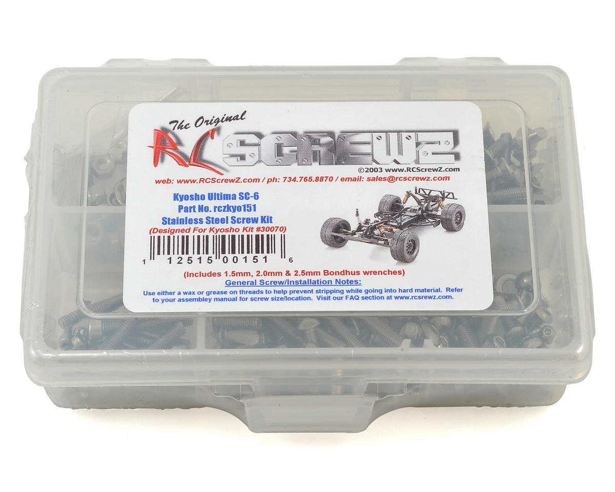 RC Screwz Kyosho Ultima SC6 Stainless Steel Screw Kit