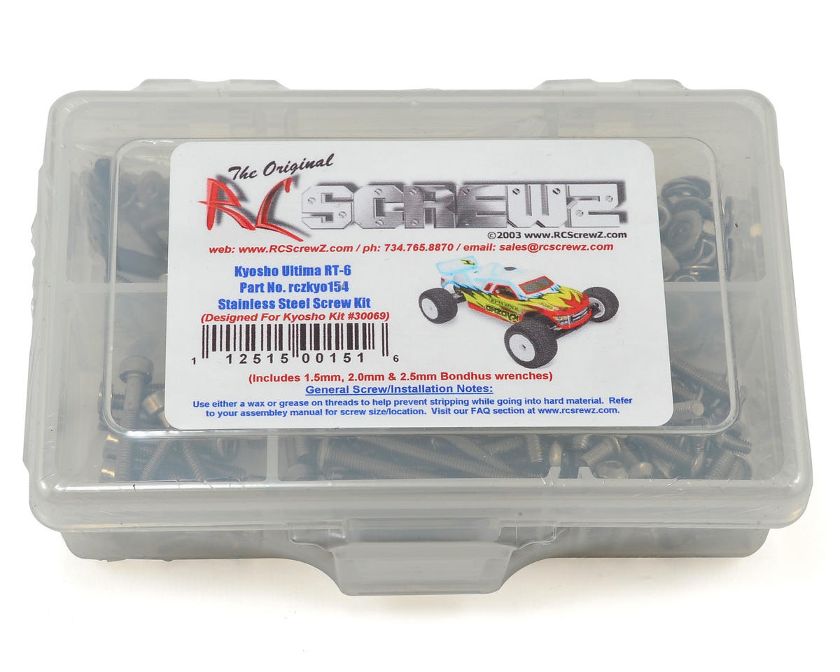 RC Screwz Kyosho Ultima RT6 Stainless Steel Screw Kit