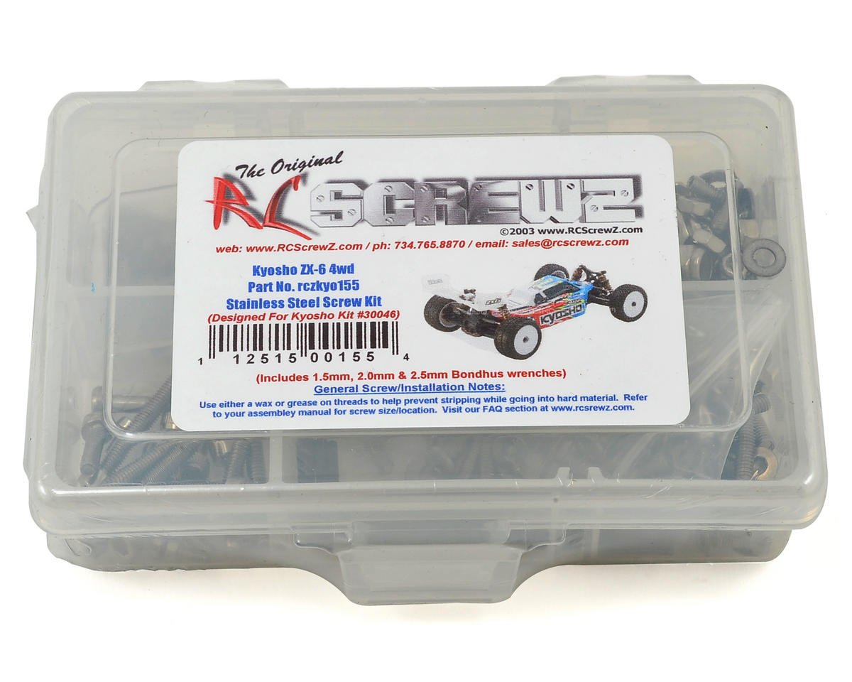 RC Screwz Kyosho Lazer ZX-6 4WD Buggy Stainless Steel Screw Kit