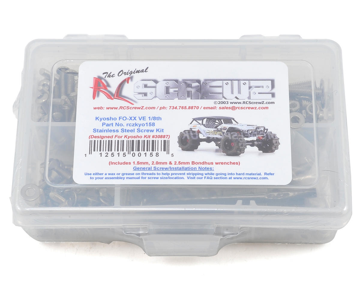 RC Screwz Kyosho FO-XX VE 1/8th Stainless Steel Screw Kit