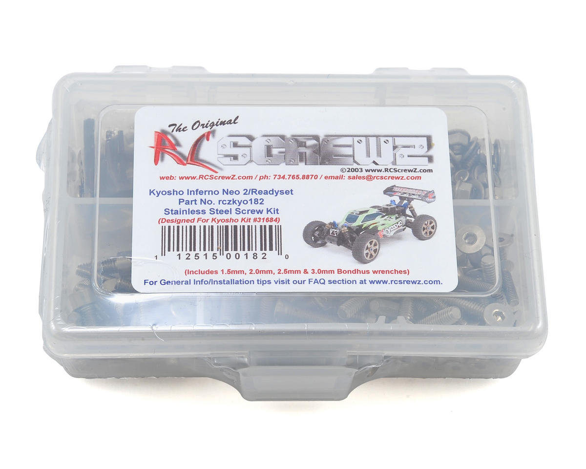 RC Screwz Kyosho Inferno NEO 2.0 Neo 2 1/8 Buggy Stainless Screw Kit