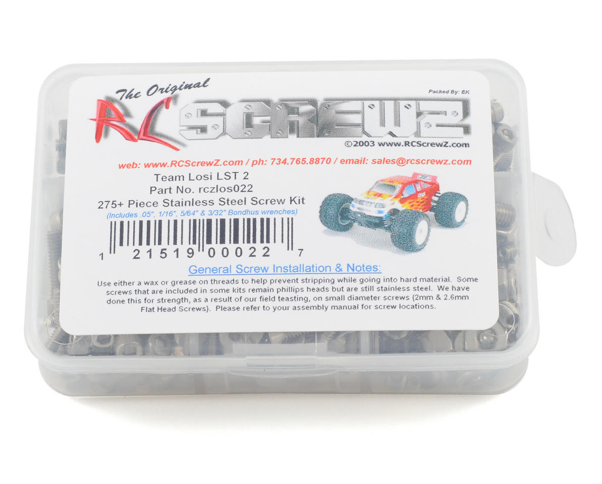 RC Screwz Team Losi LST2 Stainless Steel Screw Kit