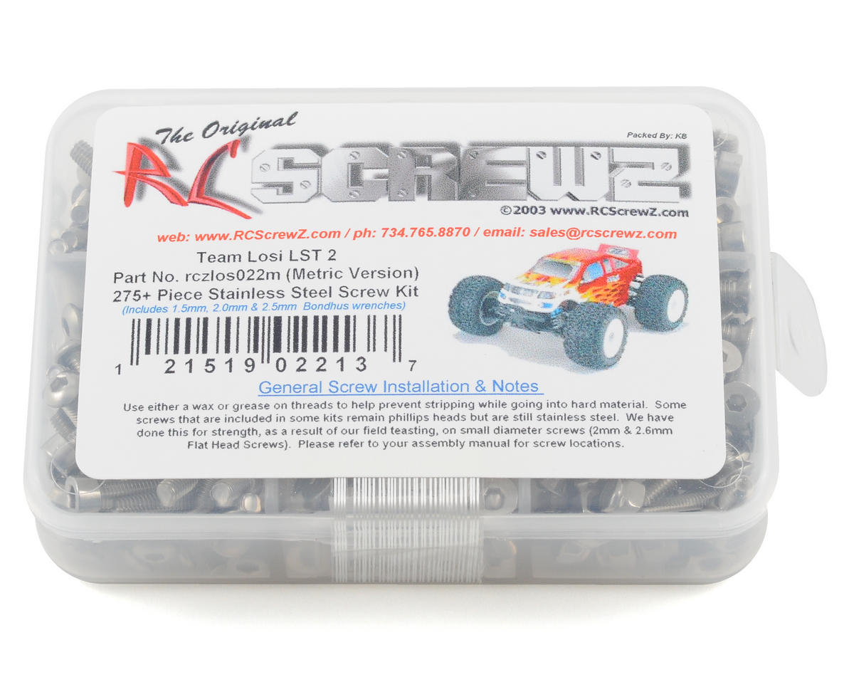 RC Screwz Losi LST2 Metric Version Stainless Screw Kit