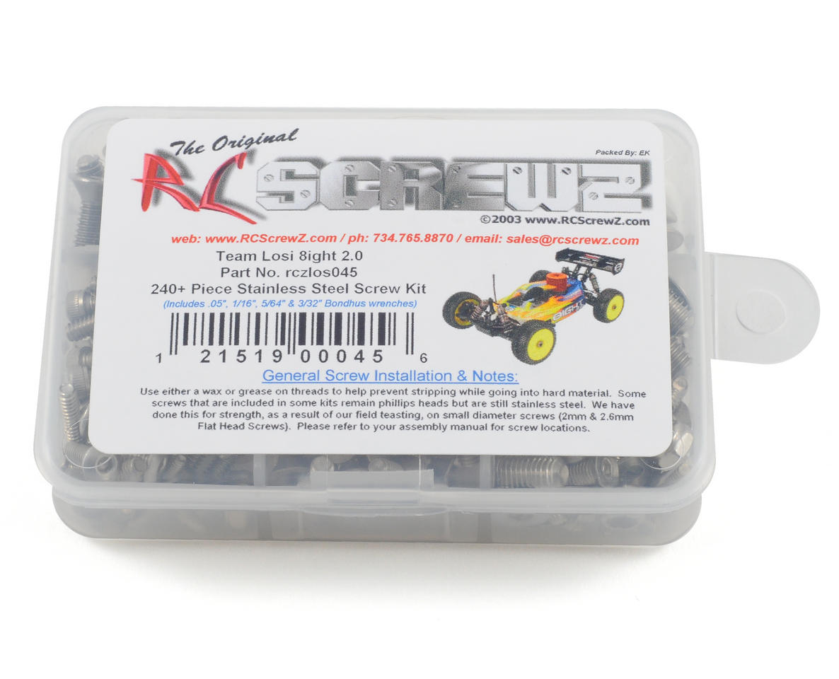 Losi 8ight 2.0 Stainless Steel Screw Kit by RC Screwz