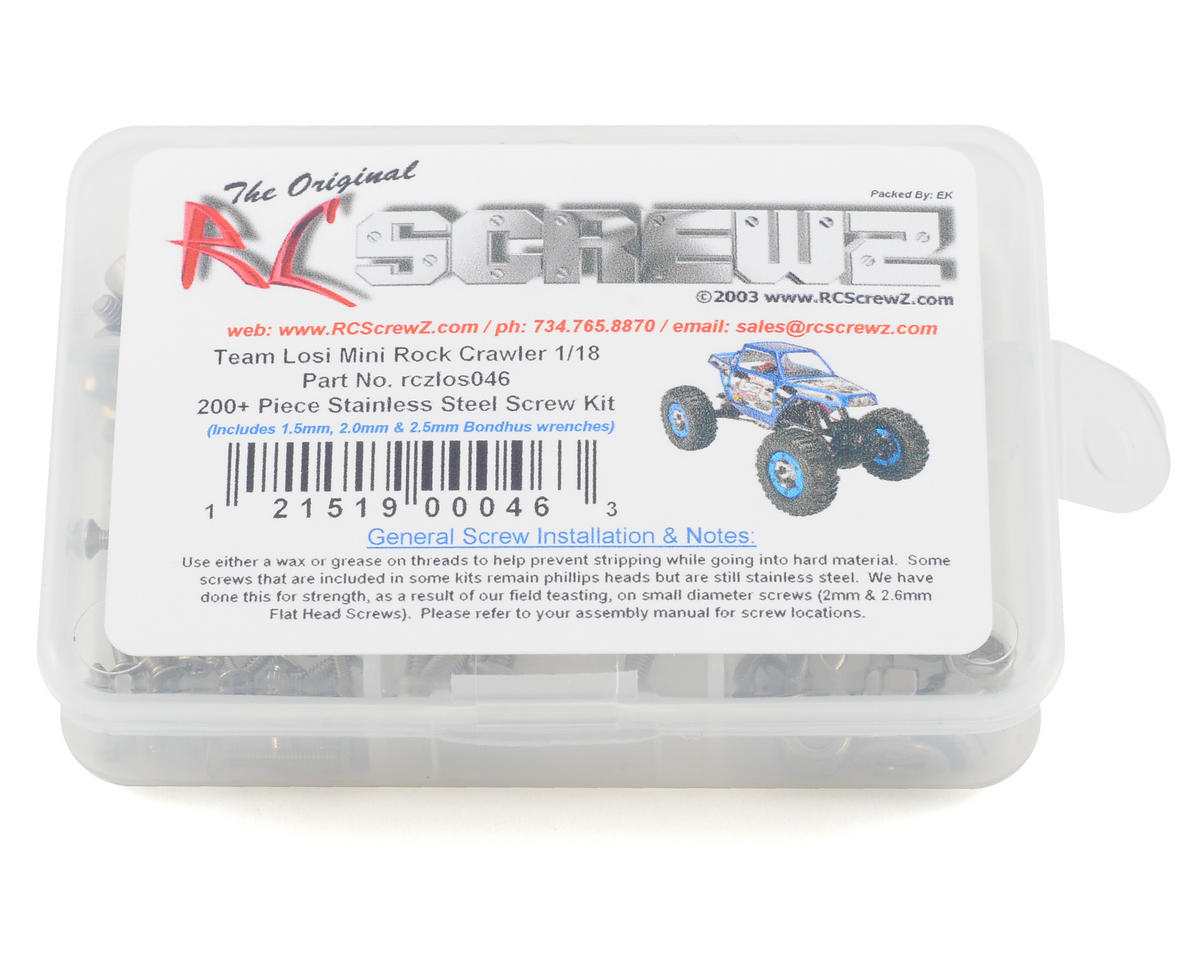 RC Screwz Losi Mini Rock Crawler 1/18th Stainless Steel Screw Kit