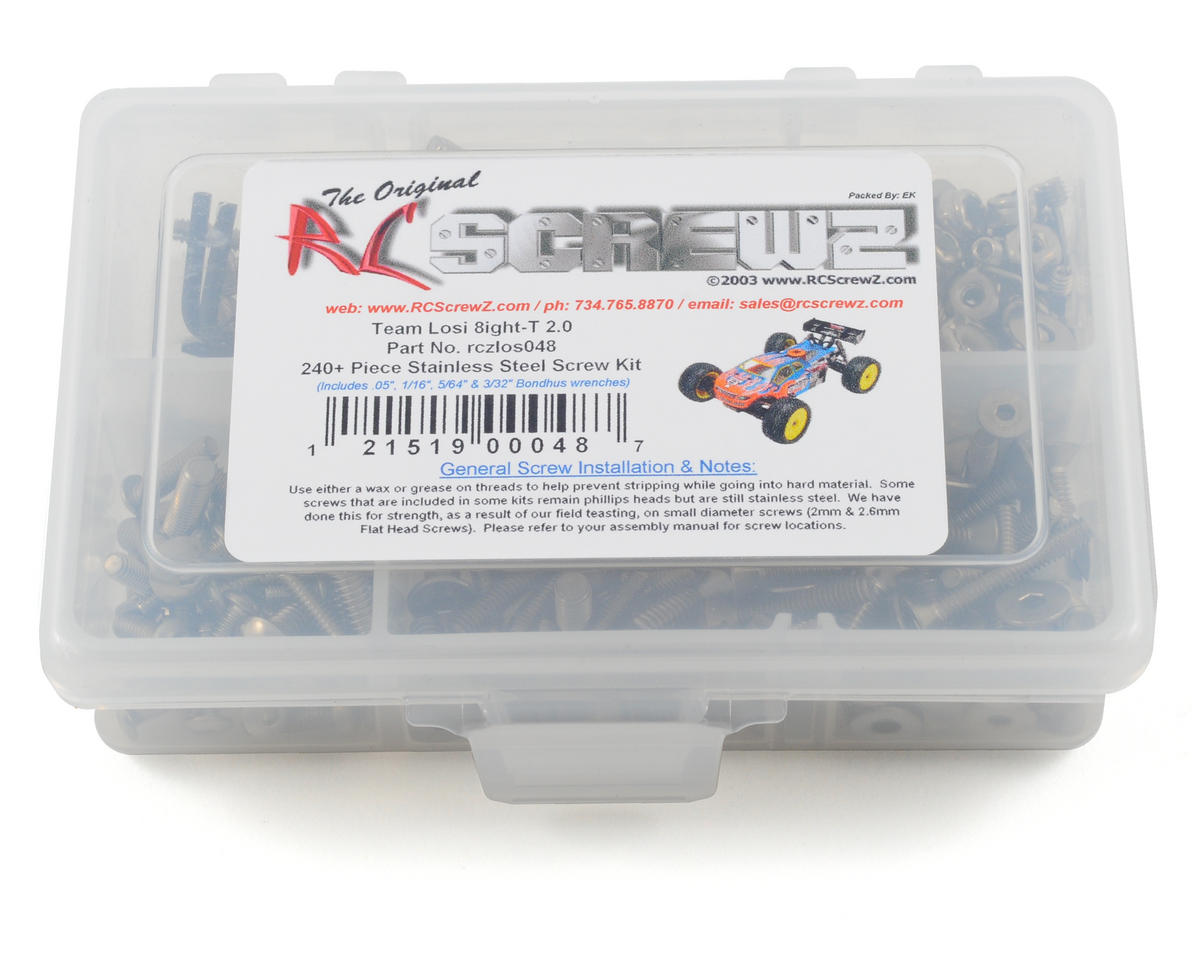 Losi 8ight T 2.0 Stainless Steel Screw Kit by RC Screwz