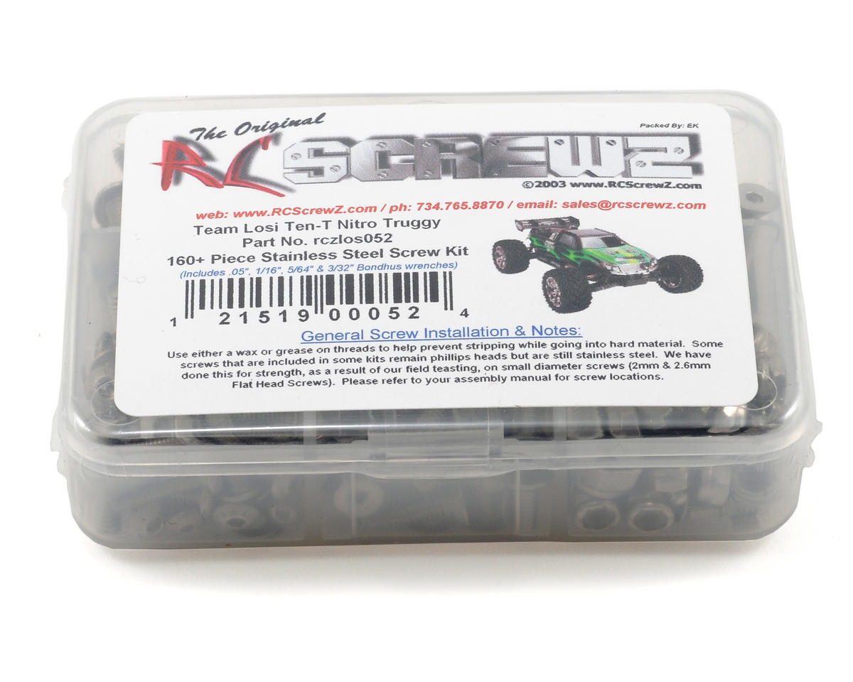 RC Screwz Team Losi Ten-T Stainless Steel Screw Kit