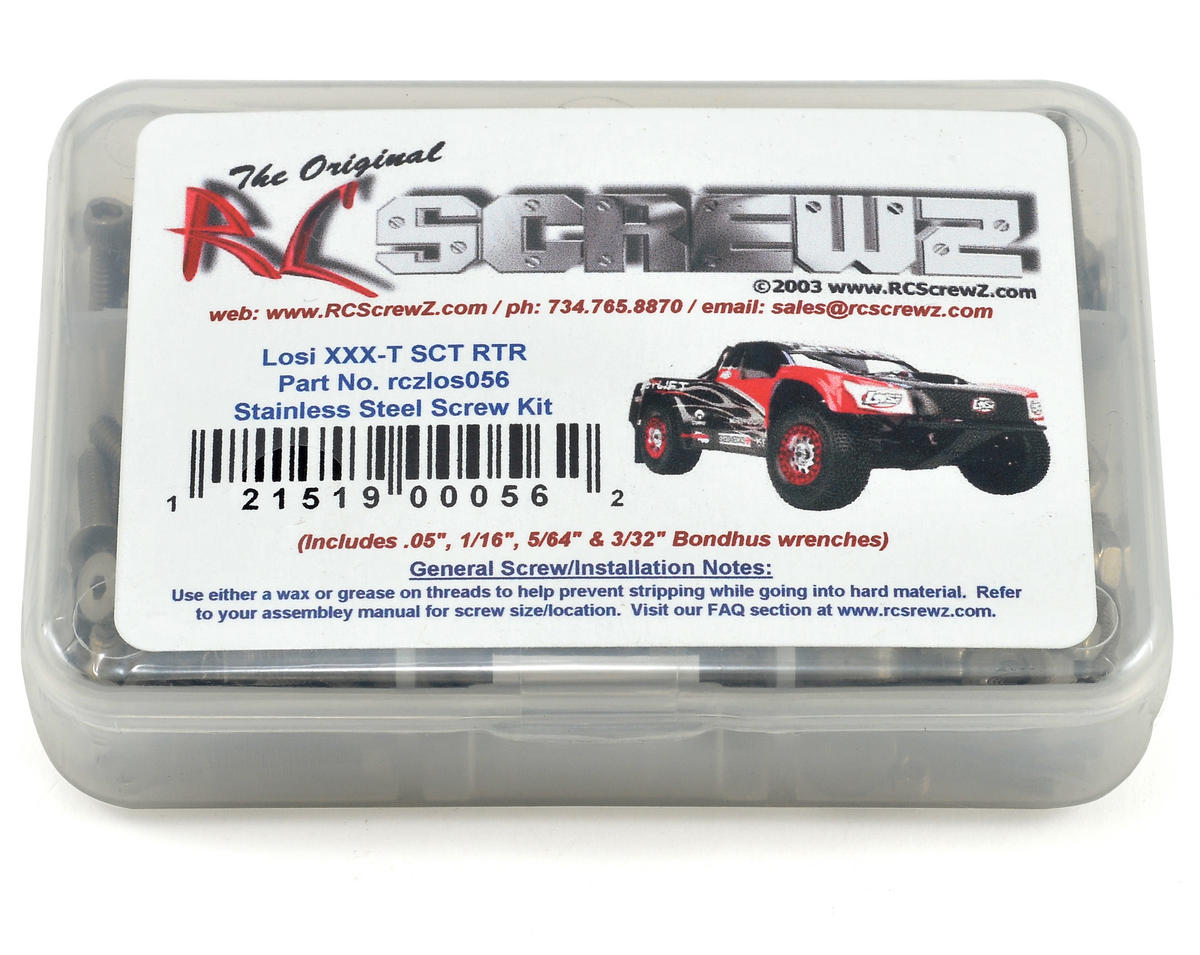 Team Losi XXX-T SCT Stainless Steel Screw Kit by RC Screwz