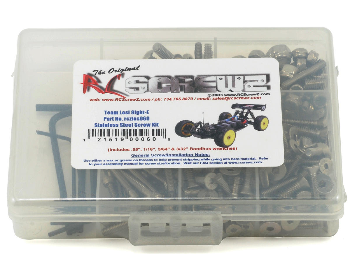 RC Screwz Team Losi 8ight-E Stainless Steel Screw Kit