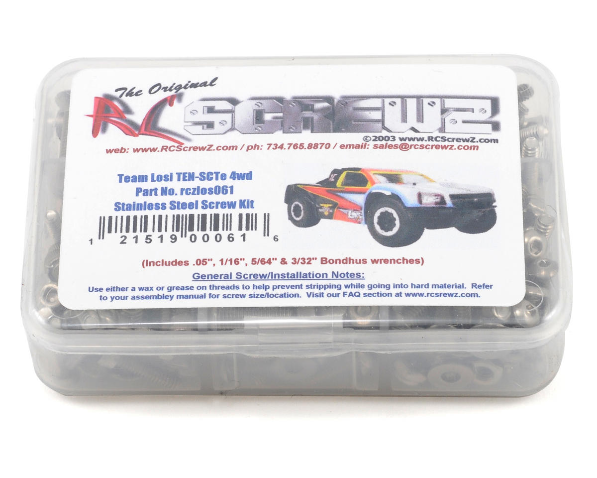 Team Losi TEN-SCTE Stainless Steel Screw Kit by RC Screwz