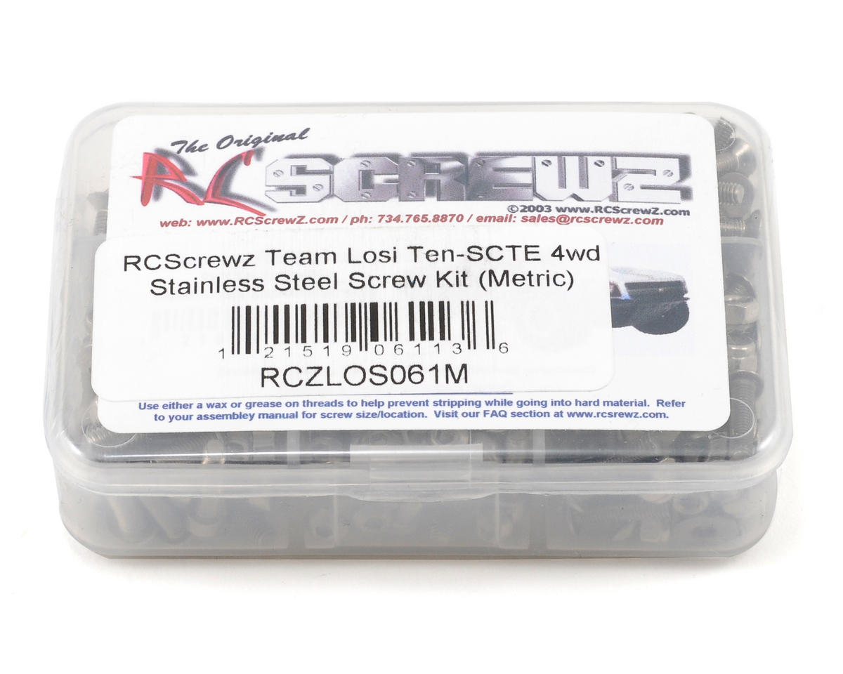 Team Losi Ten-SCTE Stainless Steel Screw Kit (Metric) by RC Screwz