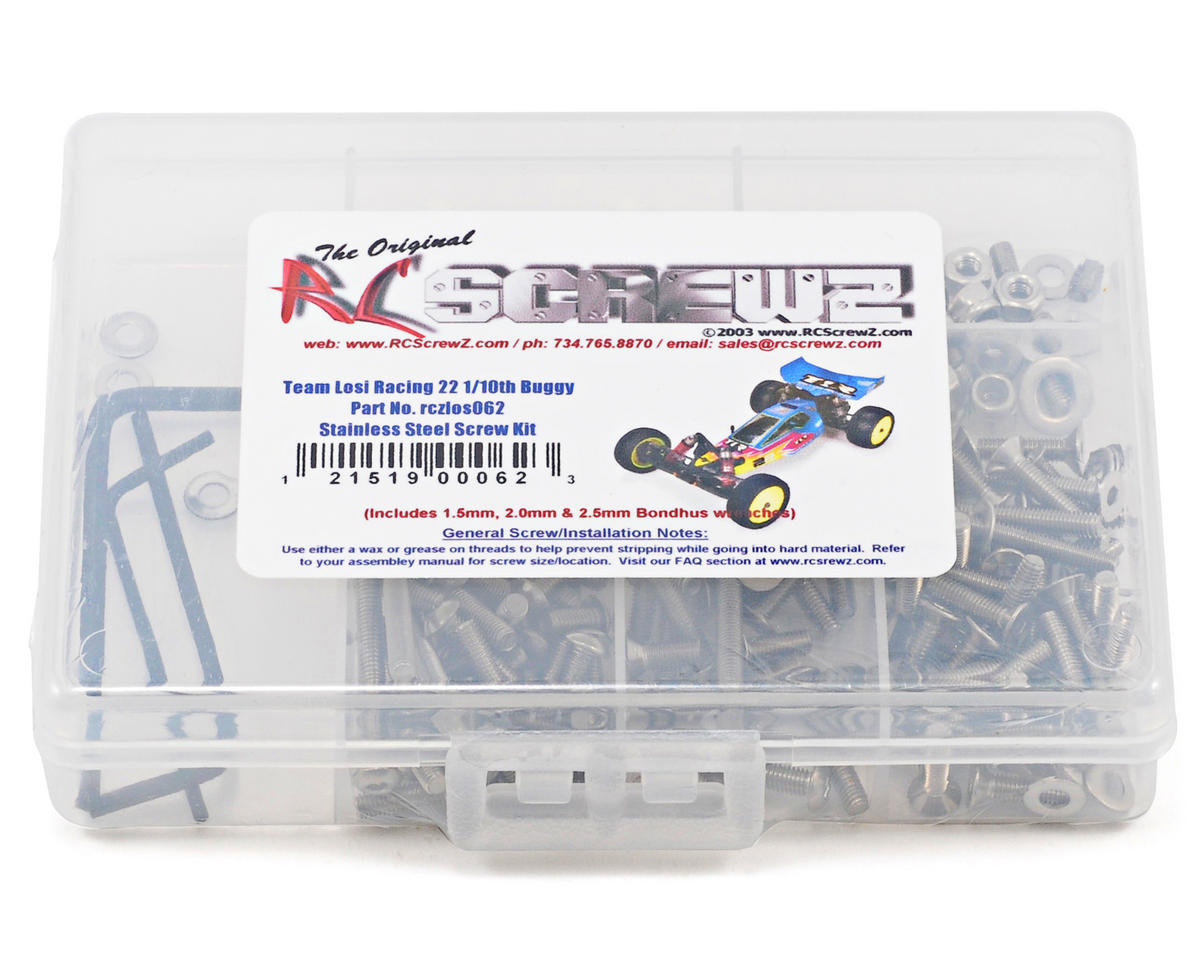 RC Screwz Team Losi 22 Stainless Steel Screw Kit
