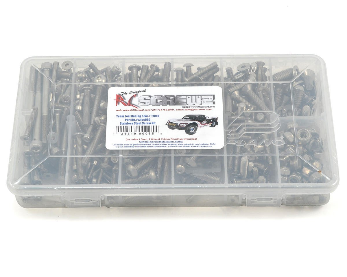 RC Screwz Team Losi 5ive-T 1/5 Stainless Steel Screw Kit