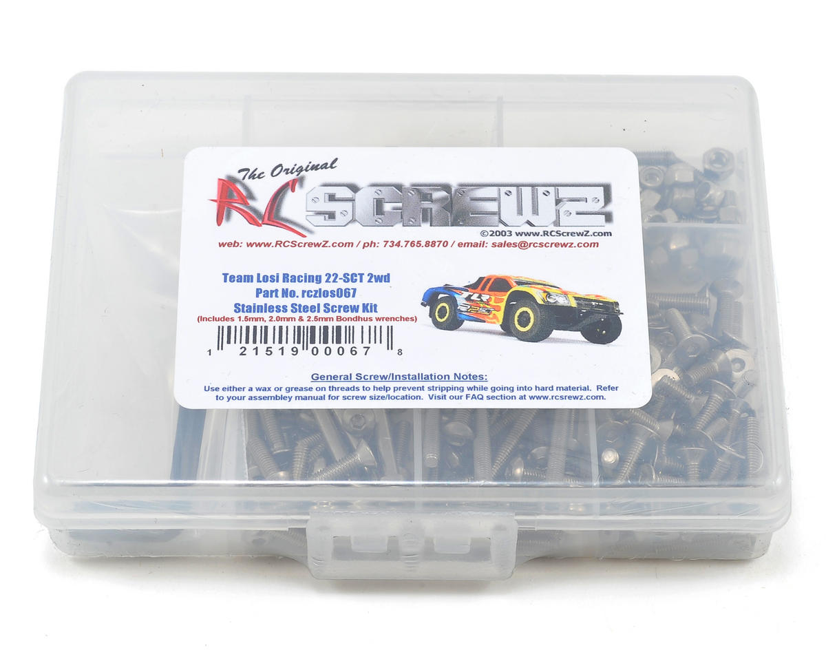 TLR 22SCT Stainless Steel Screw Kit by RC Screwz