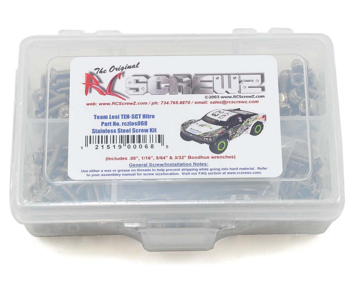 RC Screwz Losi TEN-SCT Nitro Stainless Steel Screw Kit