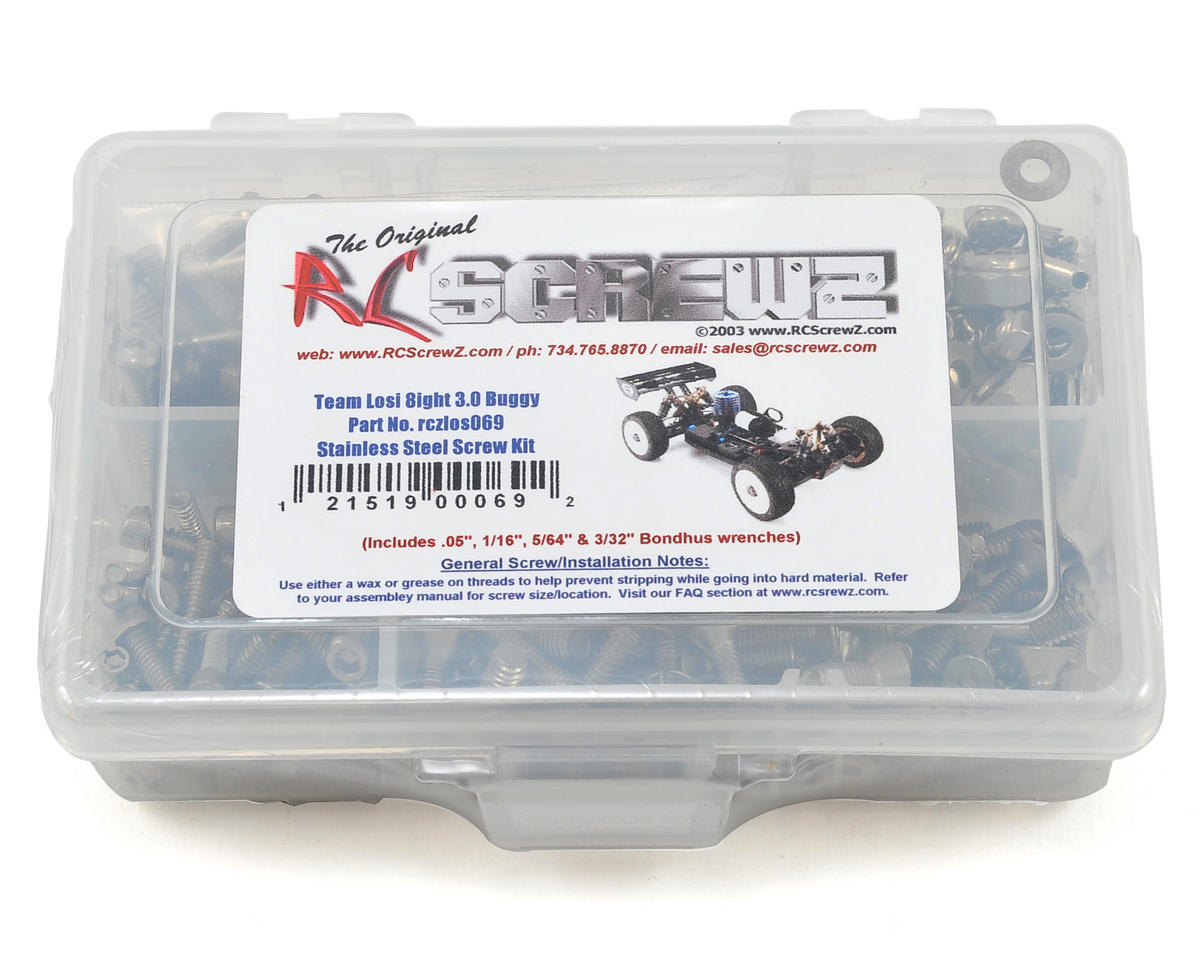Losi 8ight 3.0 Stainless Steel Screw Kit by RC Screwz