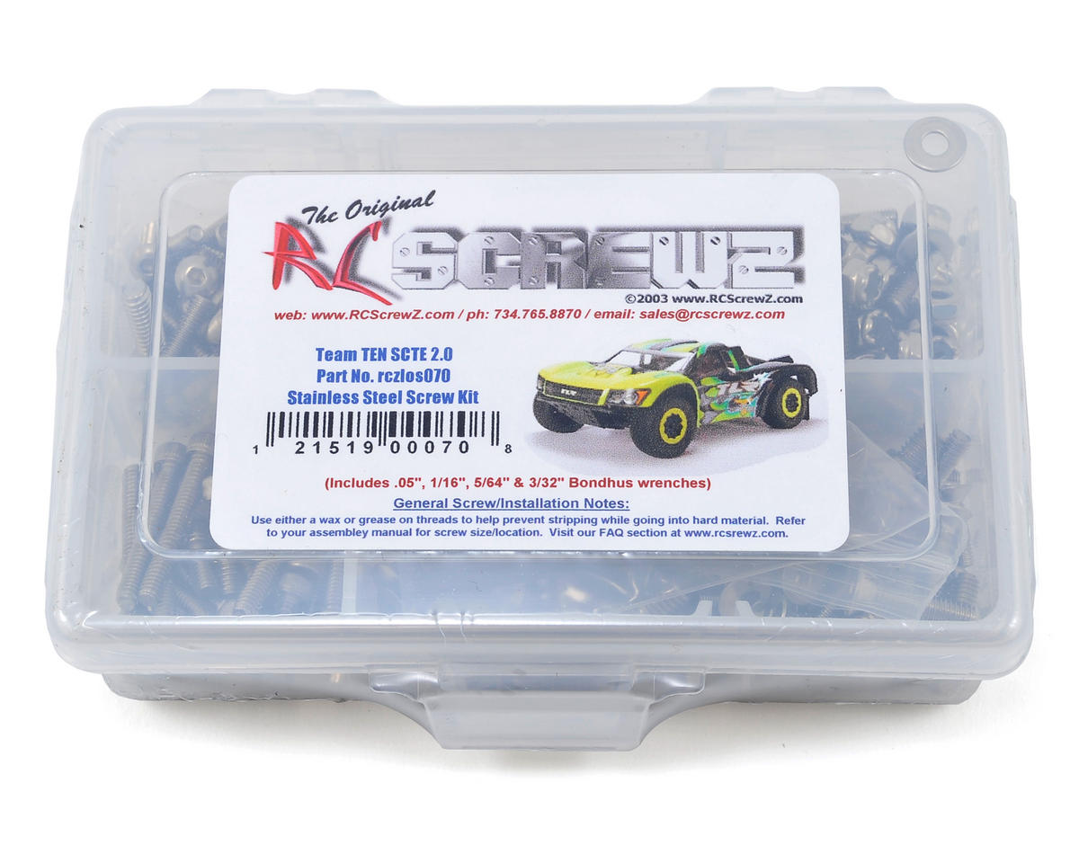 Team Losi TEN SCTE 2.0 Stainless Steel Screw Kit by RC Screwz