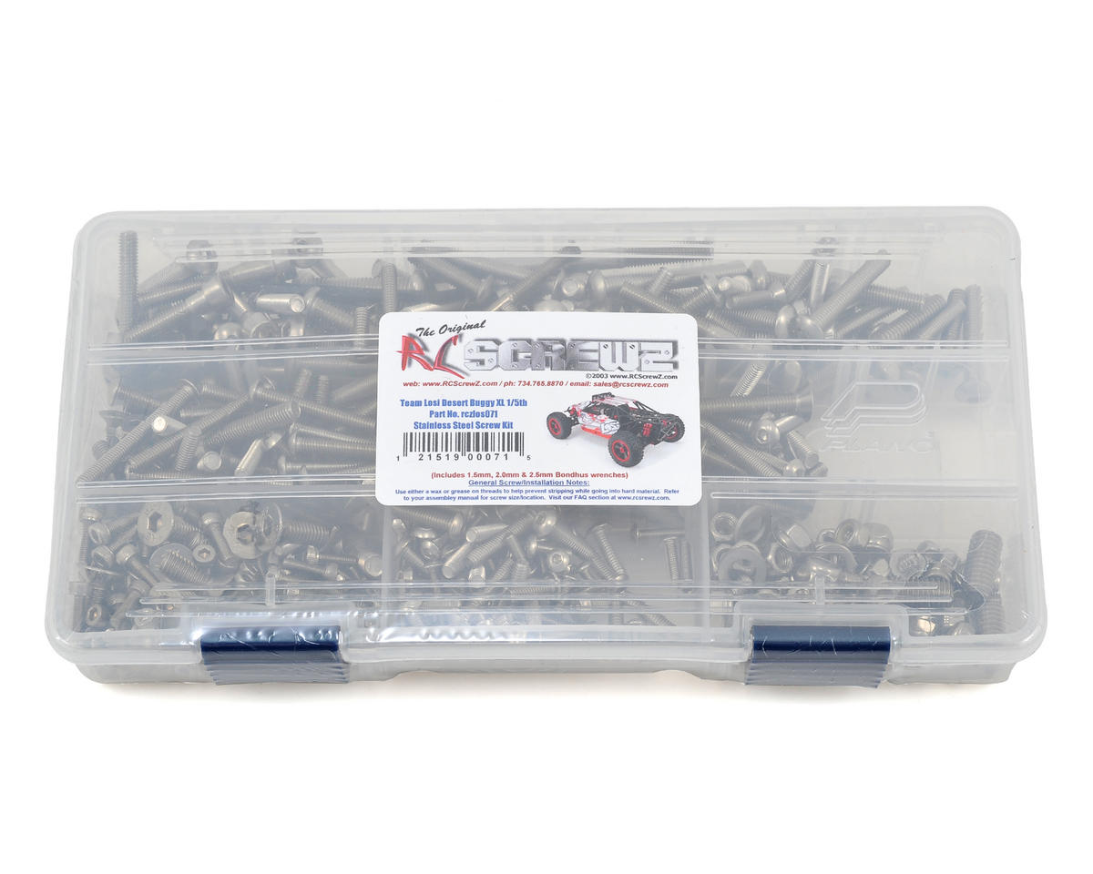 RC Screwz Losi Desert Buggy XL 1/5th RTR Stainless Steel Screw Kit
