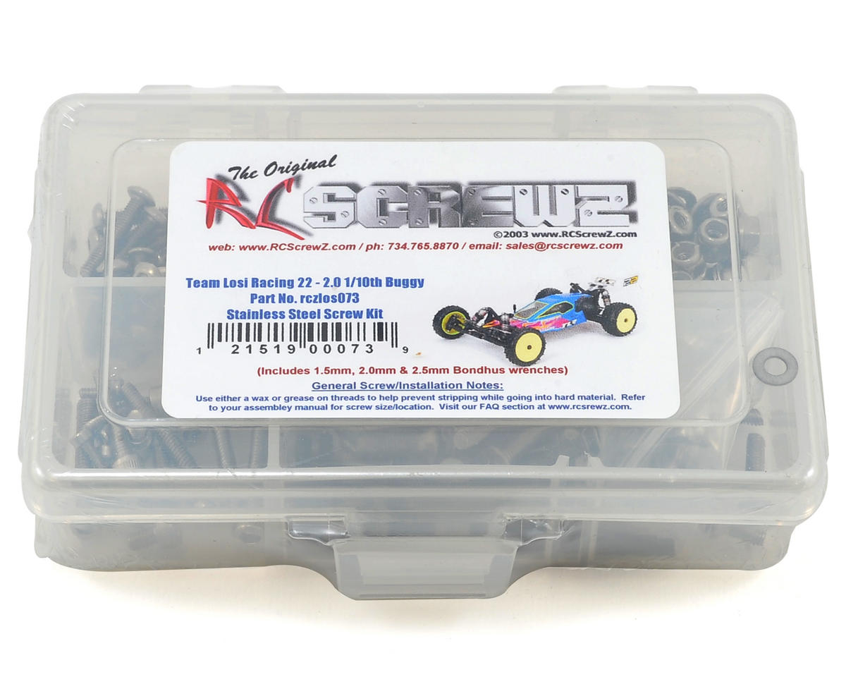 TLR 22 2.0 2wd Buggy Stainless Steel Screw Kit by RC Screwz