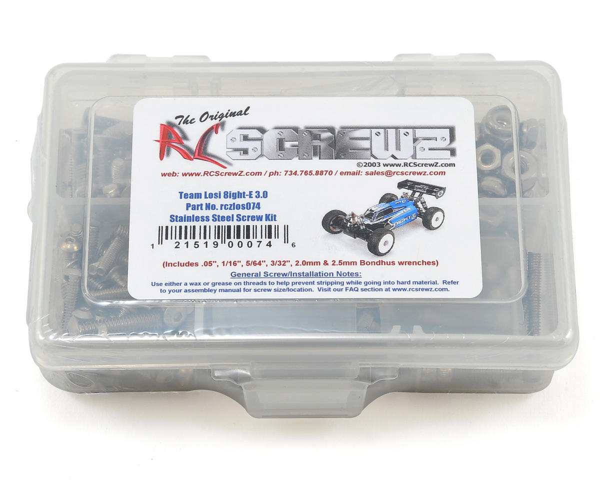 RC Screwz TLR 8IGHT-E 3.0 Buggy Stainless Steel Screw Kit