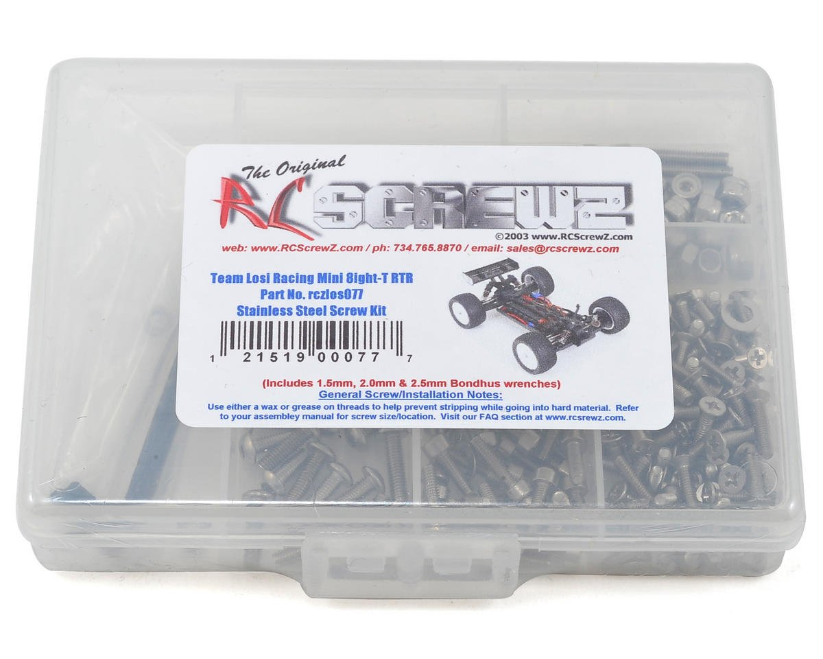 RC Screwz Losi Mini 8IGHT-T 8ight-T Stainless Steel Screw Kit