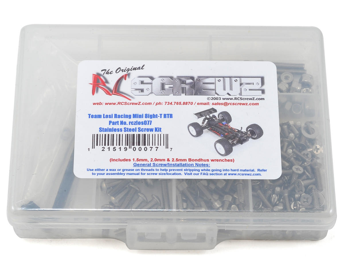 RC Screwz Losi Mini 8ight-T Stainless Steel Screw Kit