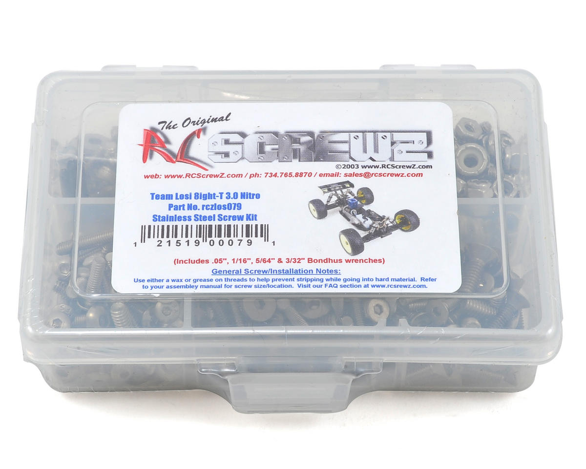 RC Screwz Losi 8ight-T 3.0 Nitro Stainless Steel Screw Kit