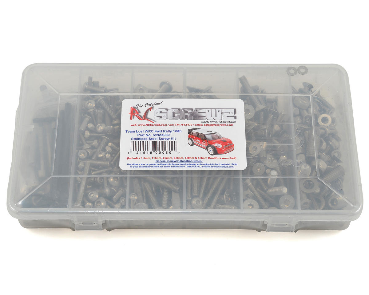 RC Screwz Team Losi 5IVE WRC 4wd Rally 1/5th Stainless Screw Kit