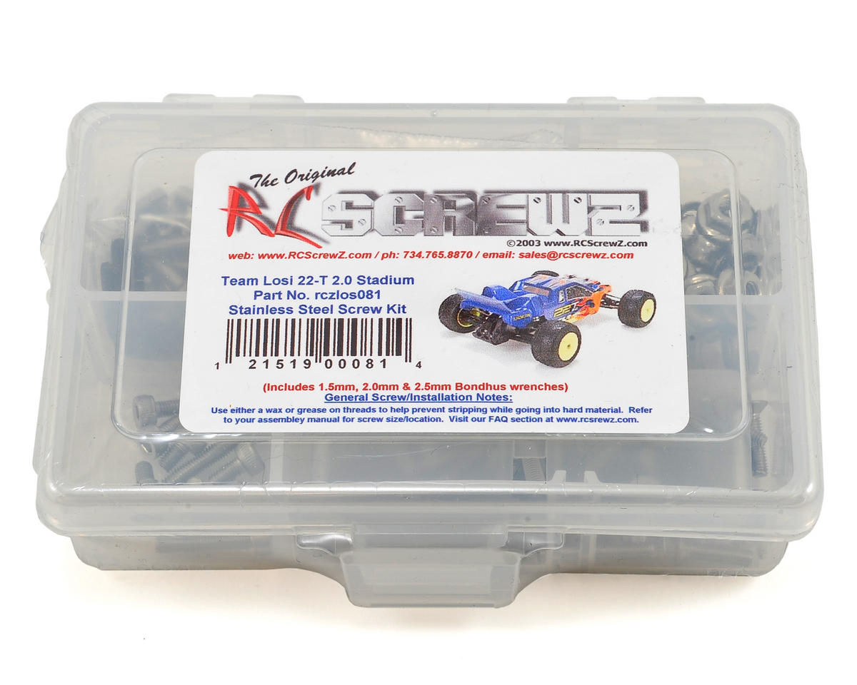 RC Screwz Team Losi 22T 2.0 Stainless Screw Kit