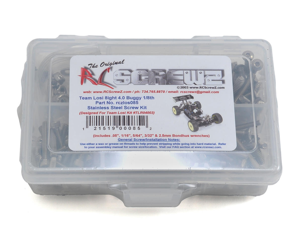 RC Screwz TLR 8IGHT 4.0 1/8th Buggy Stainless Screw Kit