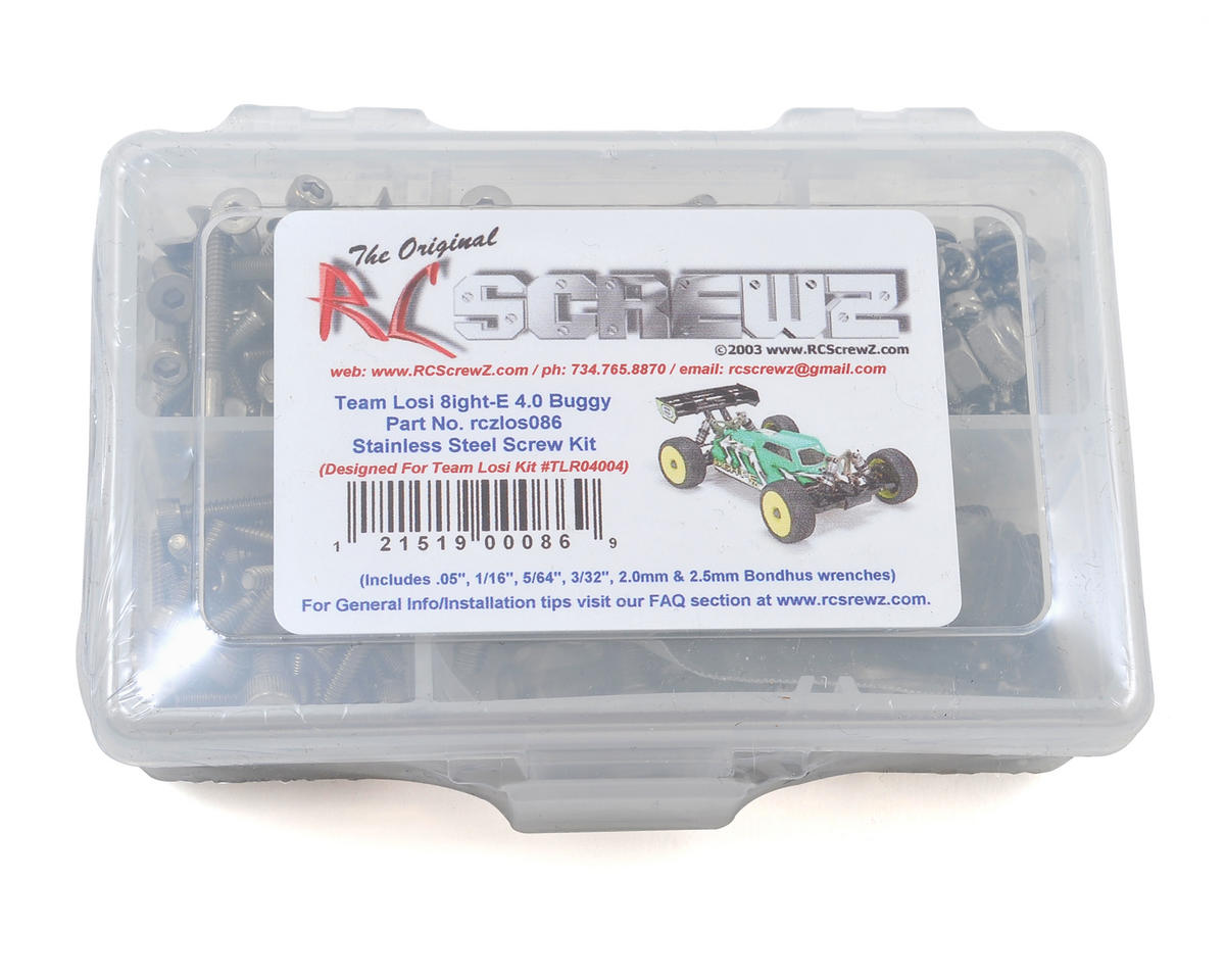 RC Screwz TLR 8IGHT-E 4.0 Buggy 1/8 Stainless Screw Kit