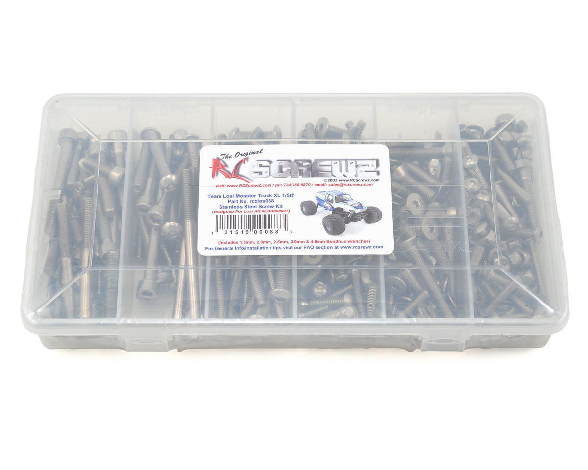 RC Screwz Team Losi Monster Truck XL Stainless Steel Screw Kit