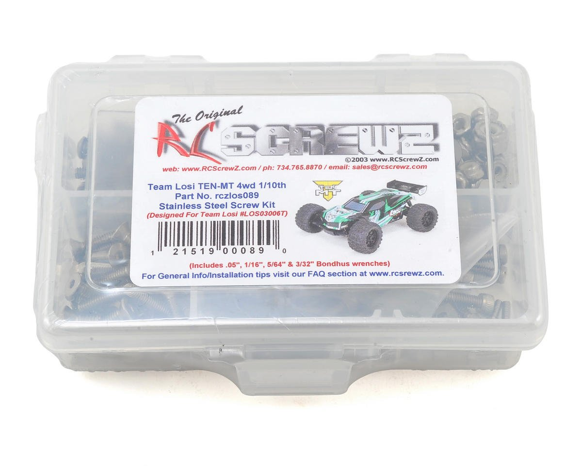 RC Screwz Team Losi TEN-MT Stainless Steel Screw Kit