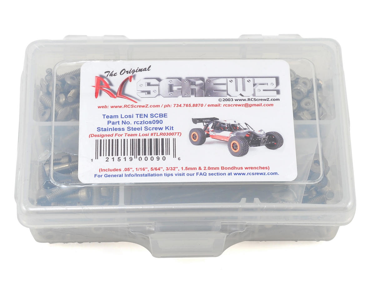 Team Losi TEN-SCBE Stainless Steel Screw Kit by RC Screwz