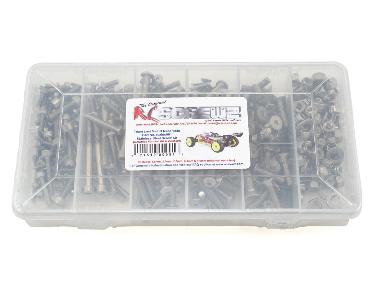 RC Screwz Team Losi 5IVE-B Race Stainless Steel Screw Kit