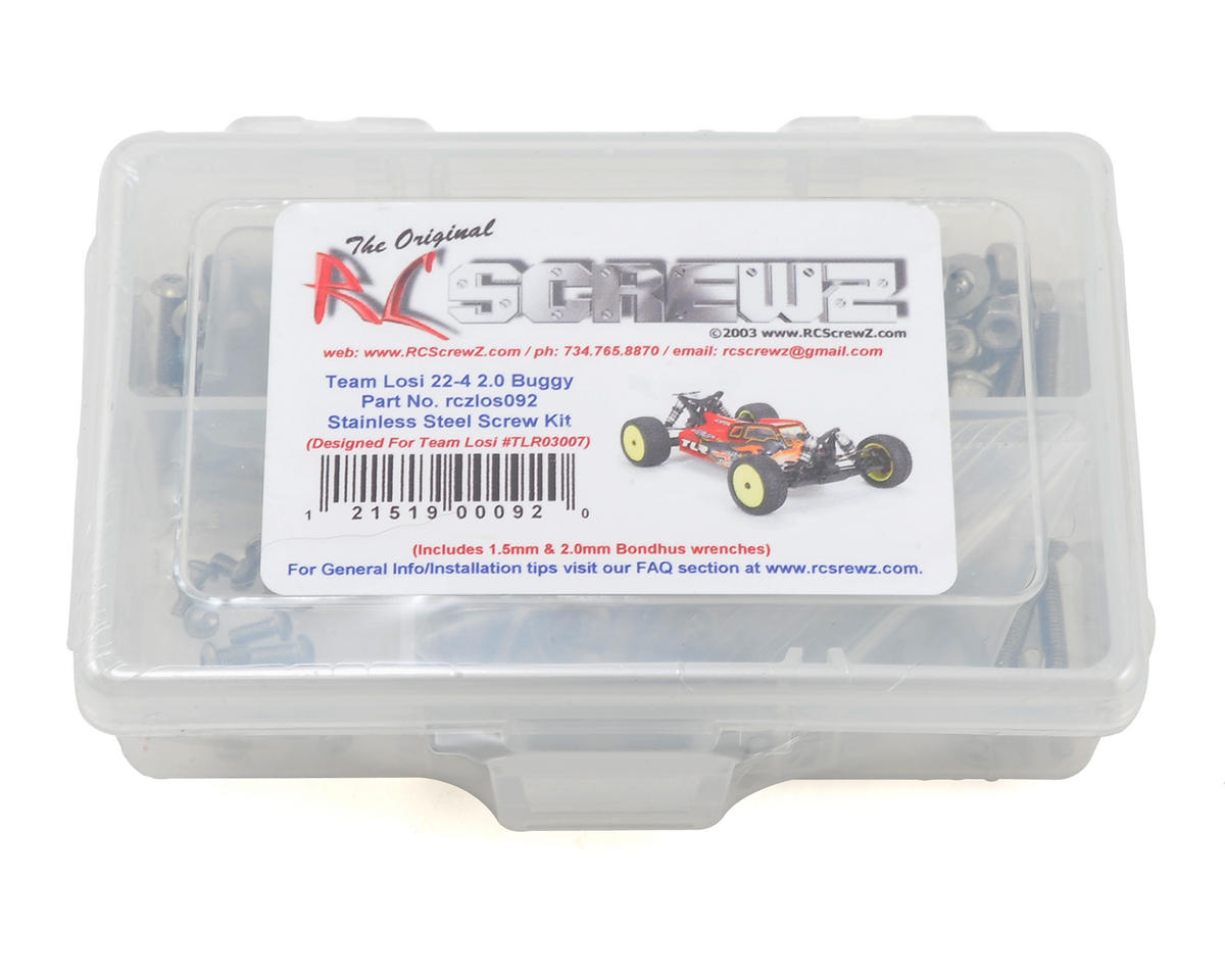 Team Losi 22-4 2.0 Stainless Steel Screw Kit by RC Screwz