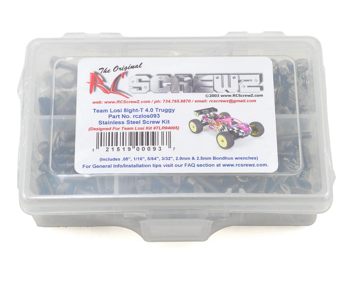 RC Screwz Team Losi 8IGHT-T 4.0 Stainless Steel Screw Kit | alsopurchased