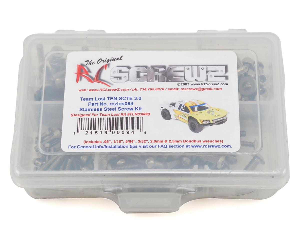 RC Screwz Team Losi TEN-SCTE 3.0 TEN SCTE Stainless Screw Kit